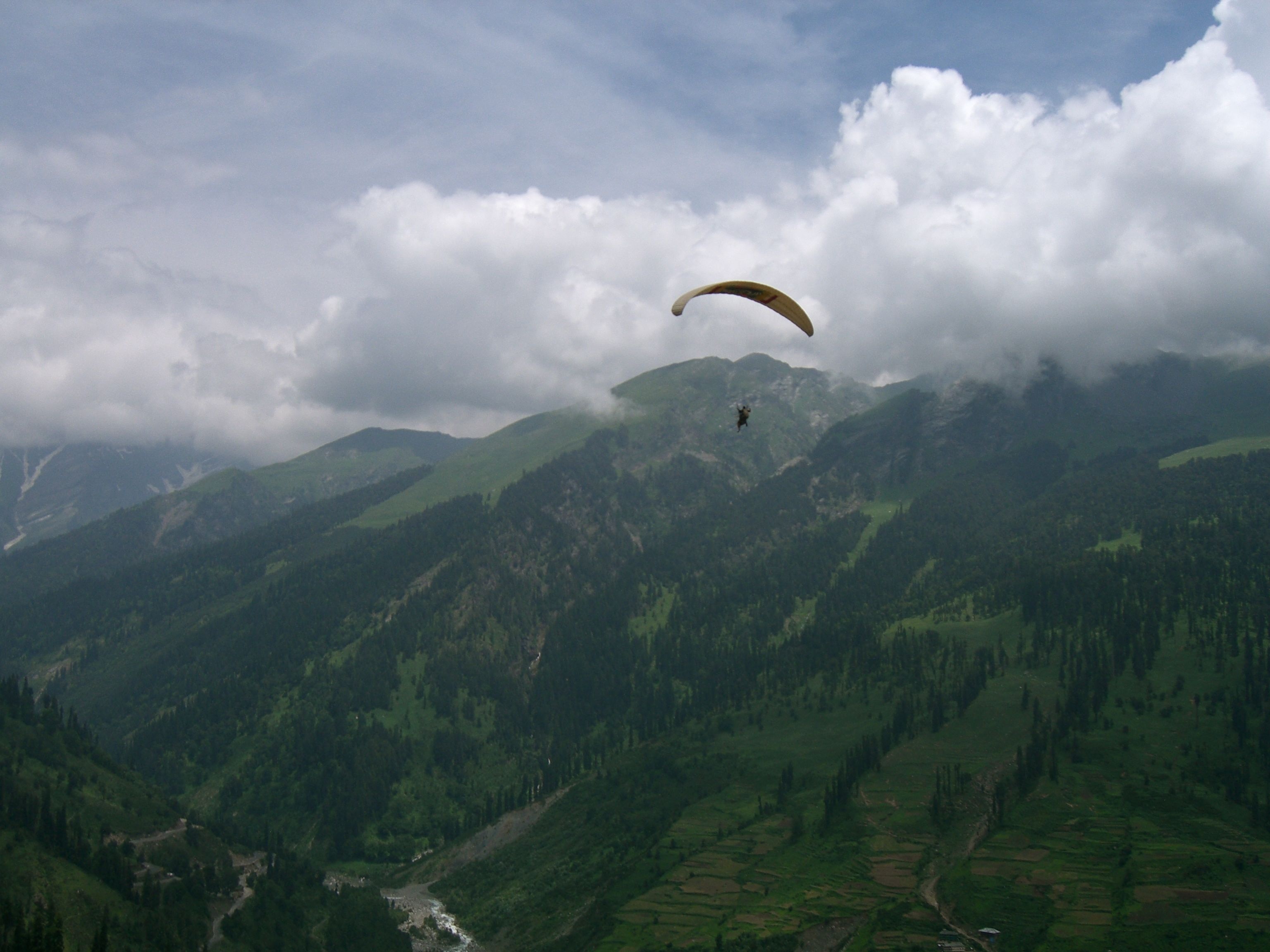 Me paragliding in the Himalayas