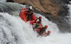 Me rafting at the source of the Nile in Uganda