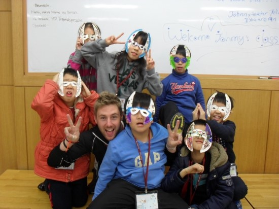 Me teaching in Korea