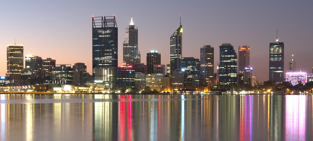 perth skyline city