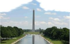 The Washington Monument and the end of the reflecting pool.