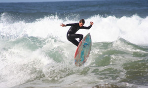 Surfing at Louisburgh in Co. Mayo on the Wild Atlantic Way Route